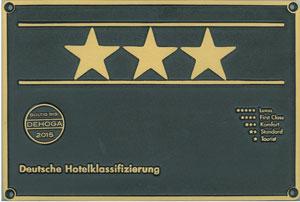 3 Sterne Plakette