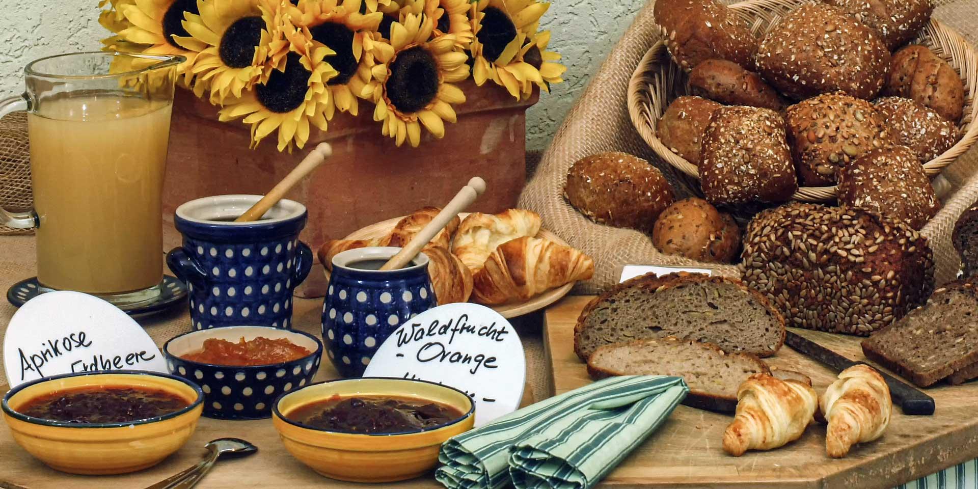 Breakfast buffet bread