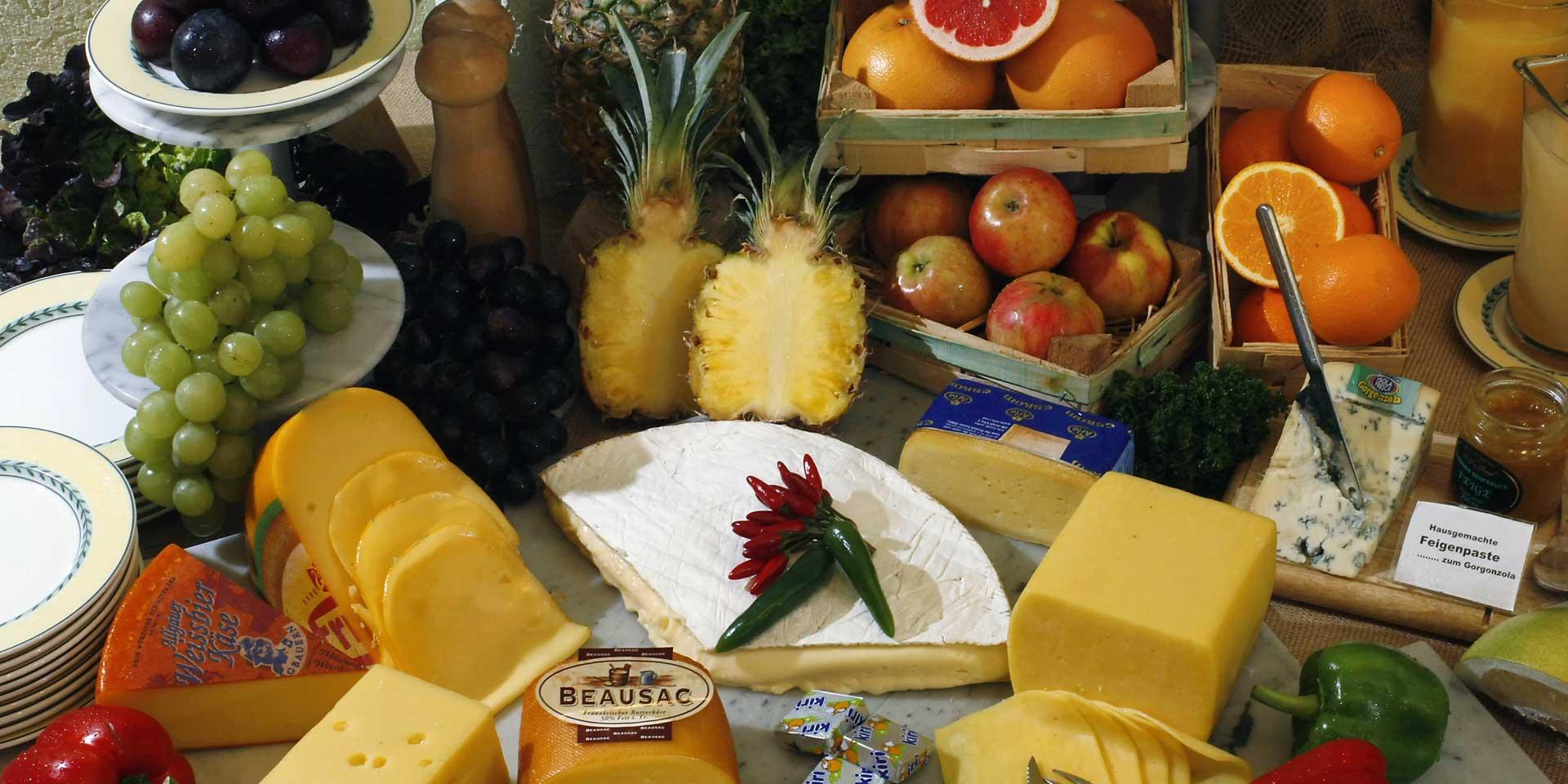 Breakfast buffet cheese