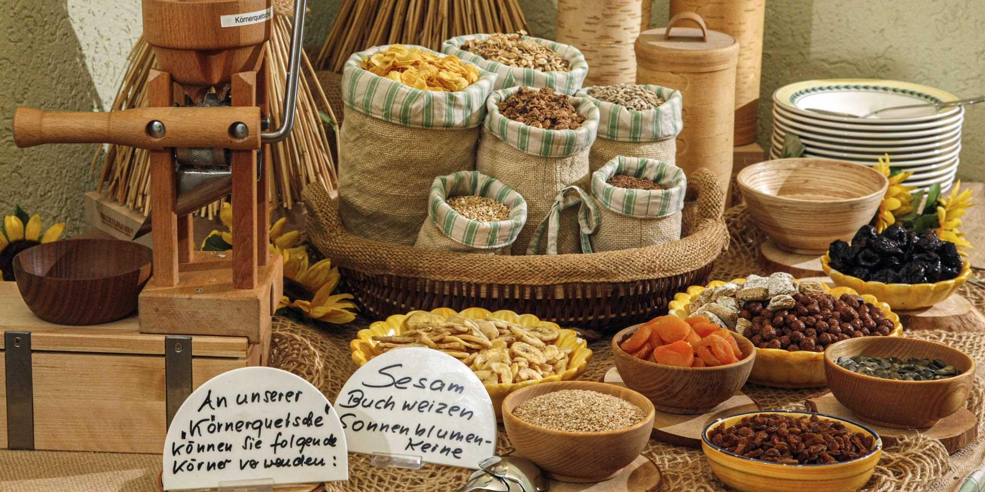 Breakfast buffet cereals